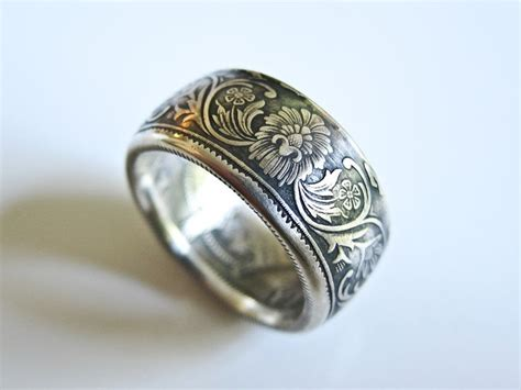 india silver rupee coin ring awesome