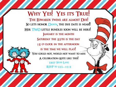 Dr Seuss Baby Shower Invitations by Dr Seuss Baby Shower Invitation Dr By Createphotocards4u