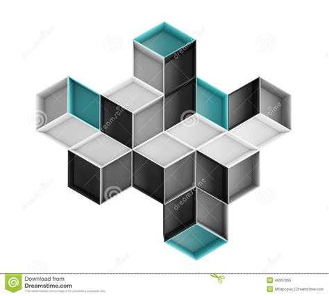illustration layout composition 3d abstract colorful rhombus composition isolated on white