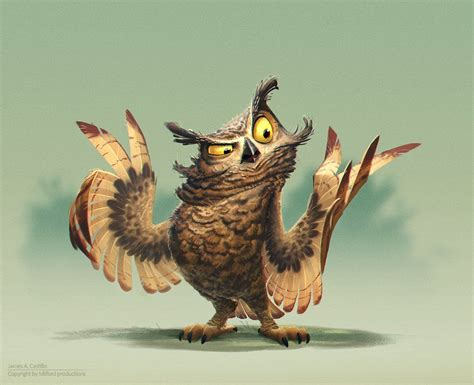 film cartoon owl artstation owl painting james castillo find more at