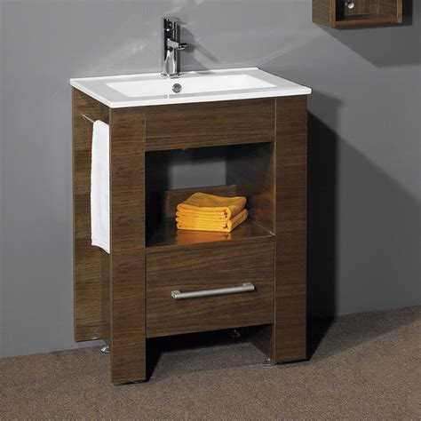 modern walnut bathroom vanity 24 quot warbeck console vanity walnut modern bathroom