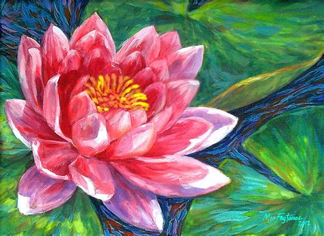 lotus flower painting by mon fagtanac