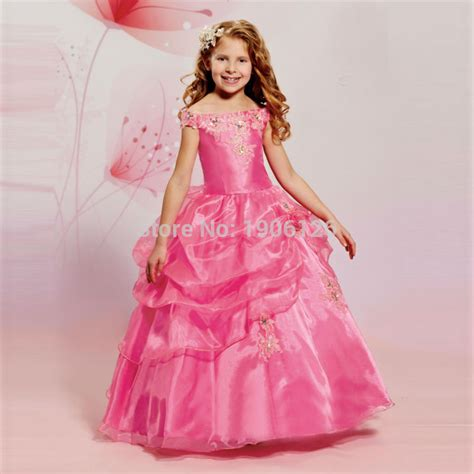 Carset 3 In Hug Flower Dress Hotpink pink prom dress children baby frocks pageant dresses flower organza