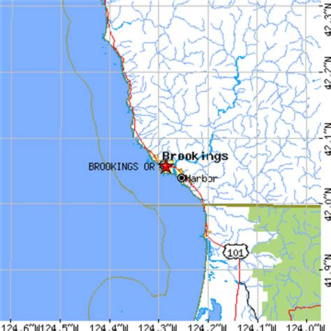 brookings oregon map brookings oregon or population data races housing