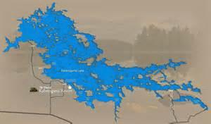 lake map of fishing lake kabetogama minnesota fishing resort mn