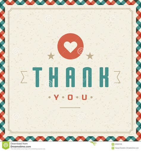 message card template thank you typography message vintage greeting card stock