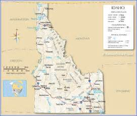 State Of Idaho Map by Reference Map Of Idaho Usa Nations Online Project