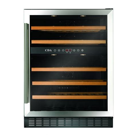 under cabinet wine cooler cda 60cm freestanding under counter stainless steel or