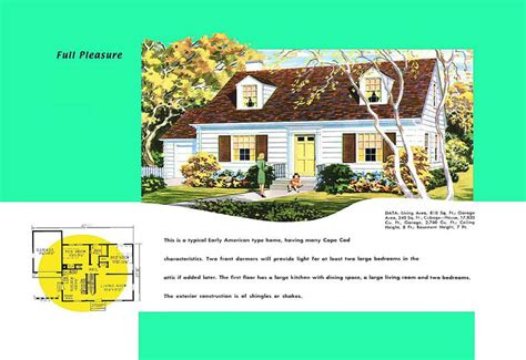 1950s cape cod house plans cape cod house plans 1950s america style
