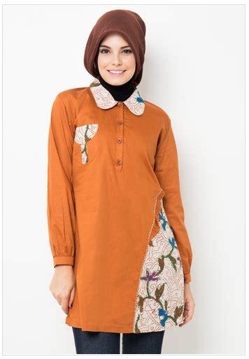 Kans 2 Tunik Blouse Baju Atasan Wanita Modis Murah trend baju muslim atasan batik modis untuk remaja masa kini