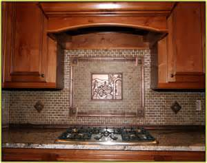 Kitchen Copper Backsplash Copper Backsplash Tiles For Kitchen Home Design Ideas