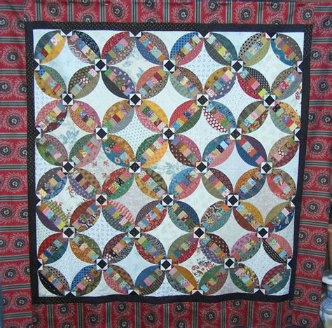 Wedding Ring Pattern Quilt by Faux Wedding Ring Quilt Pattern