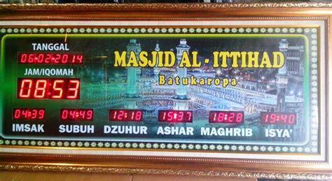 membuat jam digital jadwal sholat jam digital masjid jadwal waktu sholat siap ke kaltara