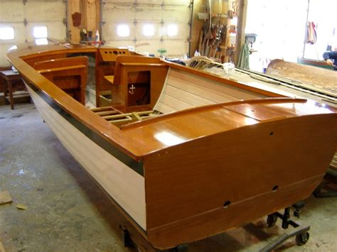 wooden boat interiors 21 lyman new transom and interior androscoggin wooden