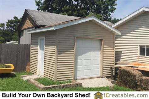 16 X 12 Garage Door by Shed With Garage Door Built In Illinois Icreatables