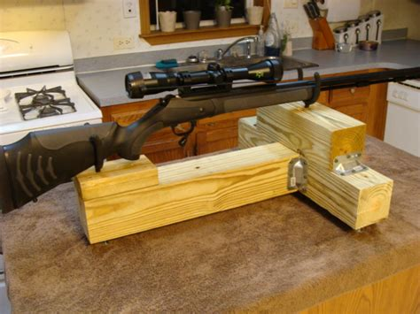 diy bench rest for target shooting homemade shooting rest
