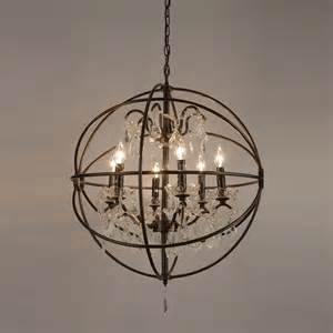 Modern Iron Chandeliers Foucault S Orb Iron 6 Light Chandelier Modern Chandeliers By Overstock