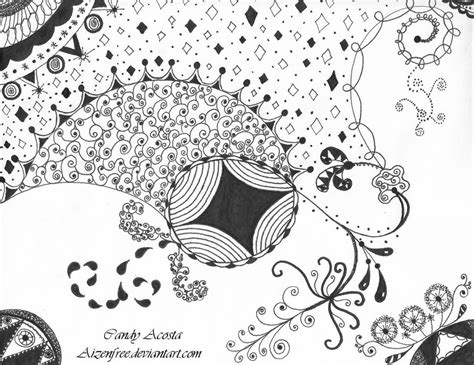 how to draw a zendoodle 12 zendoodle drawing by aizenfree on deviantart