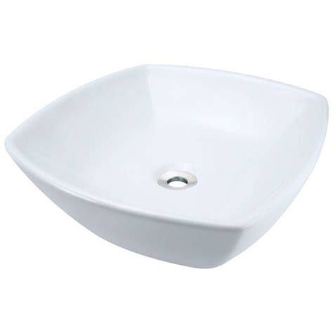 polaris sinks porcelain vessel sink in white p28122v w