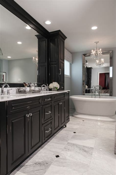 Black Cabinet Bathroom by Black Mirror Bathroom Cabinet With Traditional Widespread Faucet Bathroom Cabinets