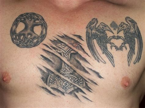 hugin and munin tattoo celtic anchor and hugin and munin by mjorlnir
