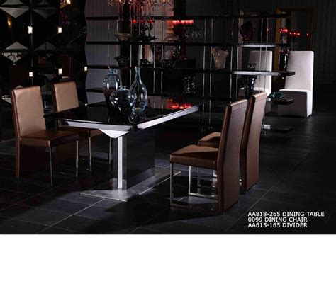 High Gloss Dining Room Furniture Dreamfurniture Armani 818 Black High Gloss Dining Table