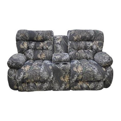 camo reclining loveseat camo reclining loveseat w console things i dislike
