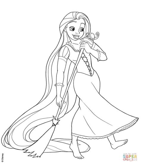 rapunzel coloring page rapunzel sweeping coloring page free printable coloring