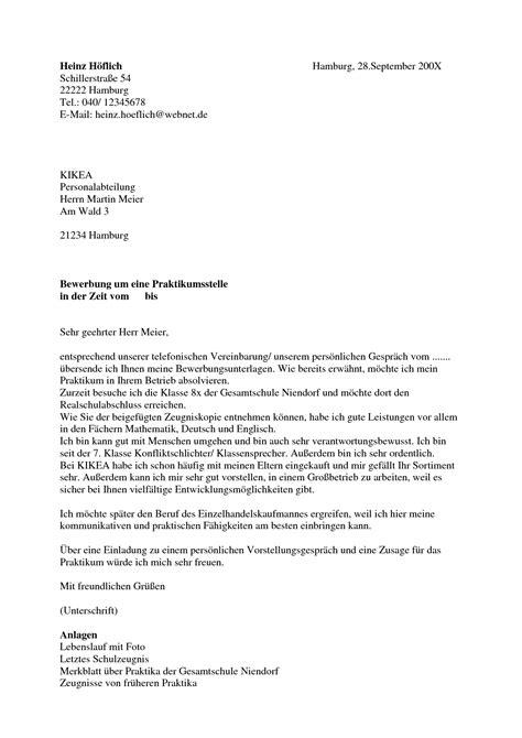 Bewerbungsschreiben Um Praktikum Bewerbung F 252 R Praktikum Sch 252 Ler Yournjwebmaster