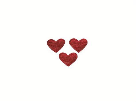 Kleines Herz by Kurzwarenkorb De 3 Kleine Herzen Rot