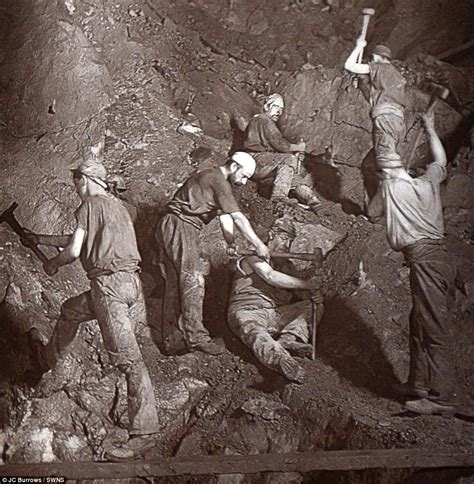 digging for gold children work in harsh conditions paid rare early flash photography images of cornish miners