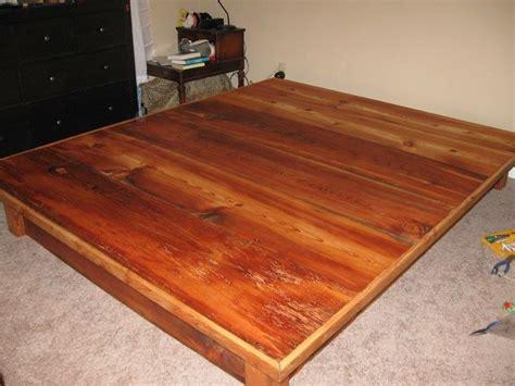 Buy A Custom Made Platform Bed Frame With Drawers From Pine Platform Bed Frame
