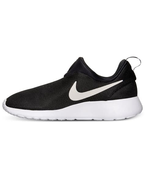 mens slip on sneakers nike mens roshe run slip on casual sneakers from finish
