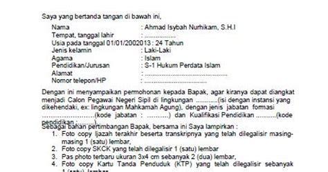 Contoh Surat Lamaran Kerja Kemdikbud 2014 by Contoh Surat Lamaran Cpns Kejaksaan Ditulis Tangan