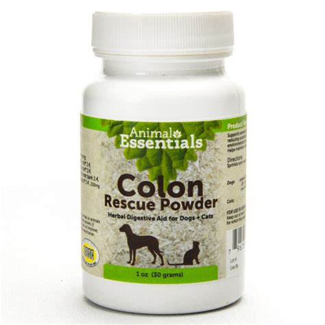 wholetones for dogs animal essentials colon rescue powder well of center store