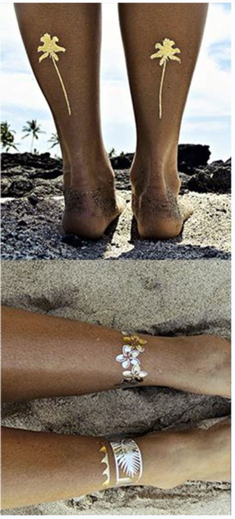 Metallic In The Summer by Metallic Summer Temporary Tattoos For