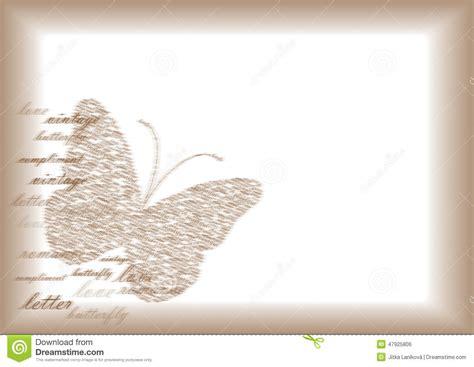 Lettre De Désinscription école Gratuite Papier De Lettre De Vintage Avec Le Papillon Illustration