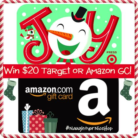 Amazon Gift Cards At Target - naughtyornicehop win 20 target or amazon gc us can 12 17