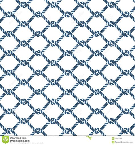 nautical pattern vector marine rope knot seamless vector pattern stock vector