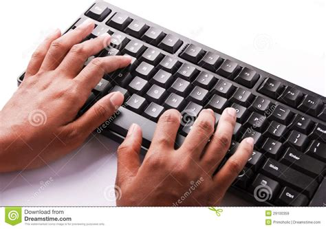 free stock photo hands over keyboard typing keyboard stock image image of hands enter modern