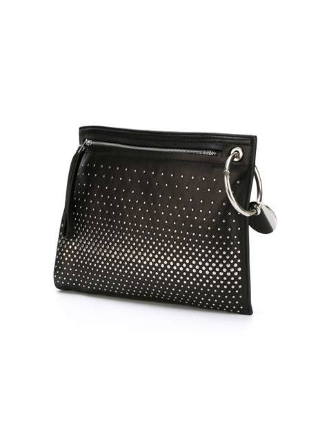 Marc By Marc Embroidered Clutch by Marc By Marc Prism Studded Clutch In Black Lyst