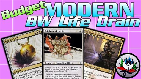 modern budget deck mtg funny w b massive life loss budget combo modern