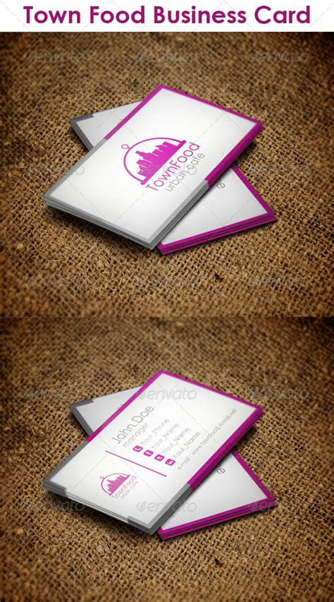 town food business card graphicriver