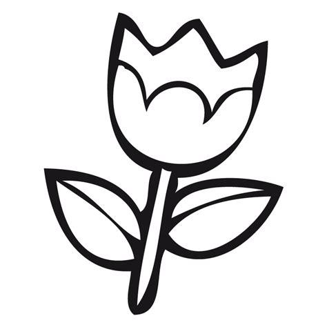 imagenes de flores sin pintar tulipan dibujalia dibujos para colorear plantas