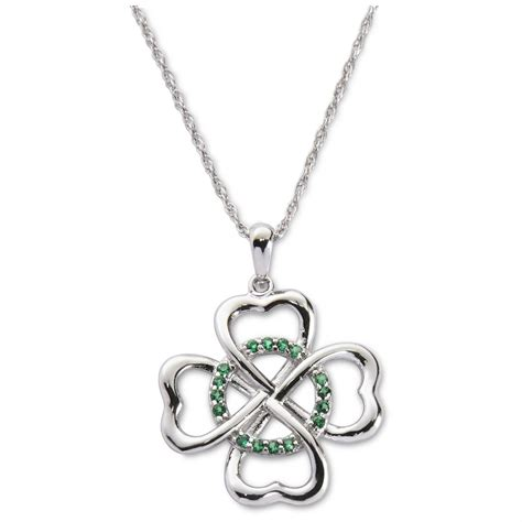 4 leaf clover emerald pendant 654012 jewelry at