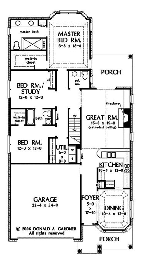 Narrow Lot Ranch House Plans by Pinterest The World S Catalog Of Ideas