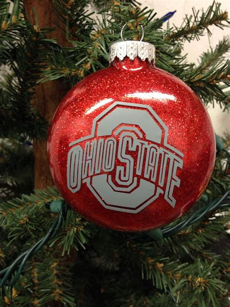 college christmas tree ornament college football ohio state
