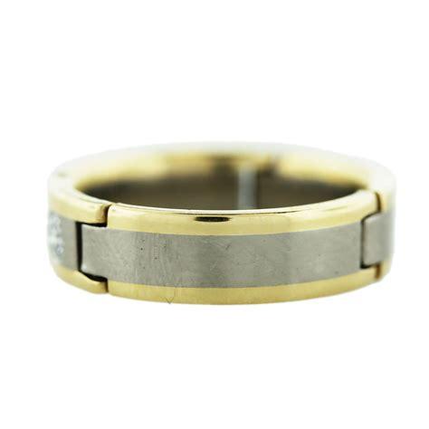 Two Tone Gold Wedding Band - 18k two tone gold s wedding band boca raton