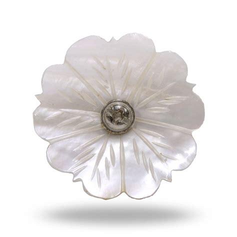 of pearl shell door knob flower mop decorative knob