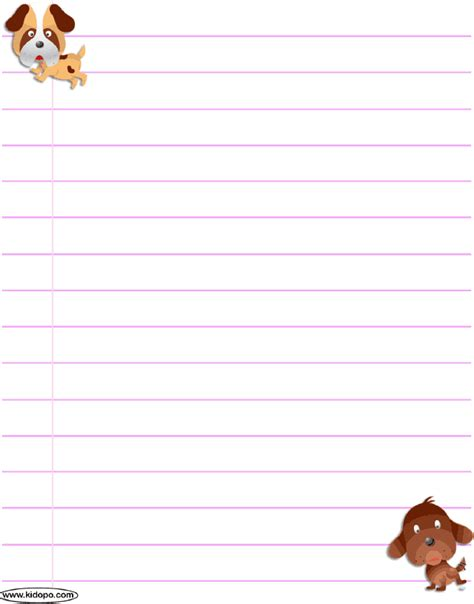 How To Make Writing Paper - printable puppies writing paper